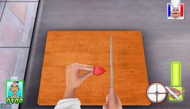 In-game screen of the game Cook-off Party on Nintendo Wii