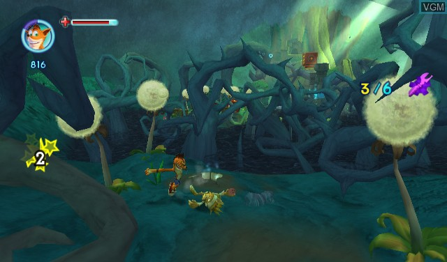 In-game screen of the game Crash - Mind Over Mutant on Nintendo Wii
