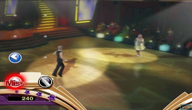 In-game screen of the game Dancing with the Stars - We Dance! on Nintendo Wii