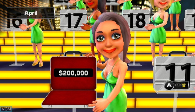 In-game screen of the game Deal or No Deal on Nintendo Wii