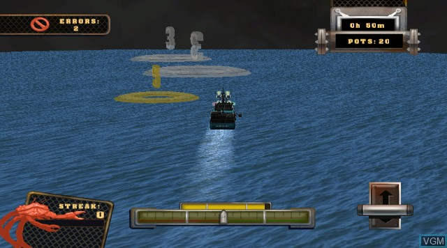 In-game screen of the game Deadliest Catch - Sea of Chaos on Nintendo Wii