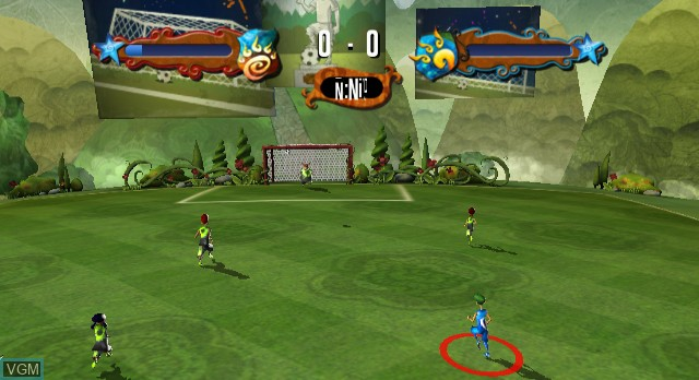 In-game screen of the game Academy of Champions - Soccer on Nintendo Wii