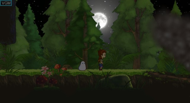 In-game screen of the game A Boy and His Blob on Nintendo Wii