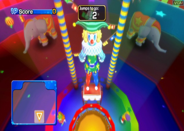 In-game screen of the game Active Life - Magical Carnival on Nintendo Wii