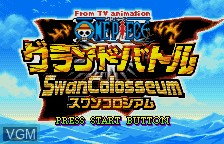 Title screen of the game From TV Animation One Piece - Grand Battle Swan Colosseum on Bandai WonderSwan