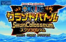 Title screen of the game One Piece - Grand Battle Swan Colloseum on Bandai WonderSwan