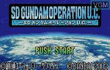 Title screen of the game SD Gundam - Operation U.C. on Bandai WonderSwan