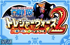 Title screen of the game From TV Animation One Piece - Treasure Wars 2 - Buggy Land e Youkoso on Bandai WonderSwan