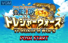 Title screen of the game From TV Animation One Piece - Treasure Wars on Bandai WonderSwan