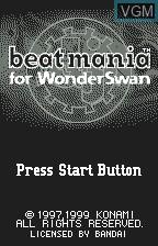 Title screen of the game Beat Mania on Bandai WonderSwan