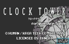 Title screen of the game Clock Tower for WonderSwan on Bandai WonderSwan
