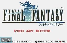 Title screen of the game Final Fantasy on Bandai WonderSwan