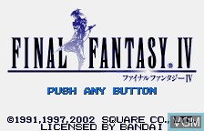 Title screen of the game Final Fantasy IV on Bandai WonderSwan