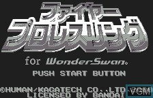 Title screen of the game Fire Pro Wrestling for WonderSwan on Bandai WonderSwan