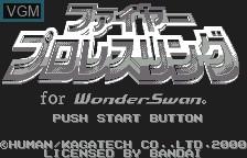 Title screen of the game Fire Pro Wrestling on Bandai WonderSwan