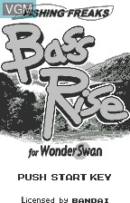 Title screen of the game Fishing Freaks - Bass Rise for WonderSwan on Bandai WonderSwan