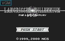 Title screen of the game Langrisser Millenium WS - The Last Century on Bandai WonderSwan