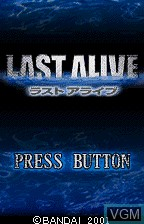 Title screen of the game Last Alive on Bandai WonderSwan