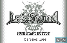 Title screen of the game LastStand on Bandai WonderSwan