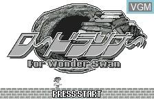 Title screen of the game Lode Runner on Bandai WonderSwan
