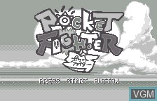 Title screen of the game Pocket Fighter on Bandai WonderSwan