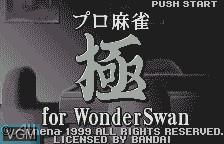 Title screen of the game Pro Mahjong Kiwame on Bandai WonderSwan
