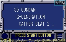Title screen of the game SD Gundam G Generation - Gather Beat 2 on Bandai WonderSwan
