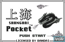 Title screen of the game Shanghai Pocket on Bandai WonderSwan