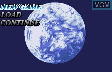 Menu screen of the game Kidou Senshi Gundam Seed on Bandai WonderSwan