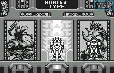 Menu screen of the game Buffers Evolution on Bandai WonderSwan