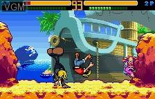 In-game screen of the game From TV Animation One Piece - Grand Battle Swan Colosseum on Bandai WonderSwan