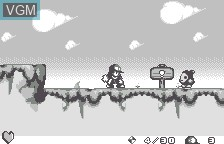 In-game screen of the game Kaze no Klonoa - Moonlight Museum on Bandai WonderSwan