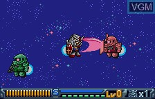 In-game screen of the game SD Gundam - Operation U.C. on Bandai WonderSwan