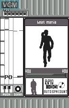In-game screen of the game Beat Mania on Bandai WonderSwan