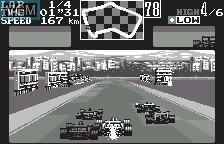In-game screen of the game Final Lap 2000 on Bandai WonderSwan
