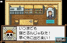 In-game screen of the game From TV Animation - One Piece - Niji no Shima Densetsu on Bandai WonderSwan