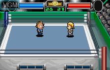 In-game screen of the game Kinniku Man Second Generations Dream Tag Match on Bandai WonderSwan