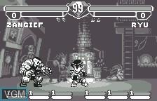 In-game screen of the game Pocket Fighter on Bandai WonderSwan