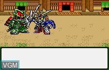In-game screen of the game SD Gundam Eiyuuden - Eiyuuden Musha Densetsu on Bandai WonderSwan