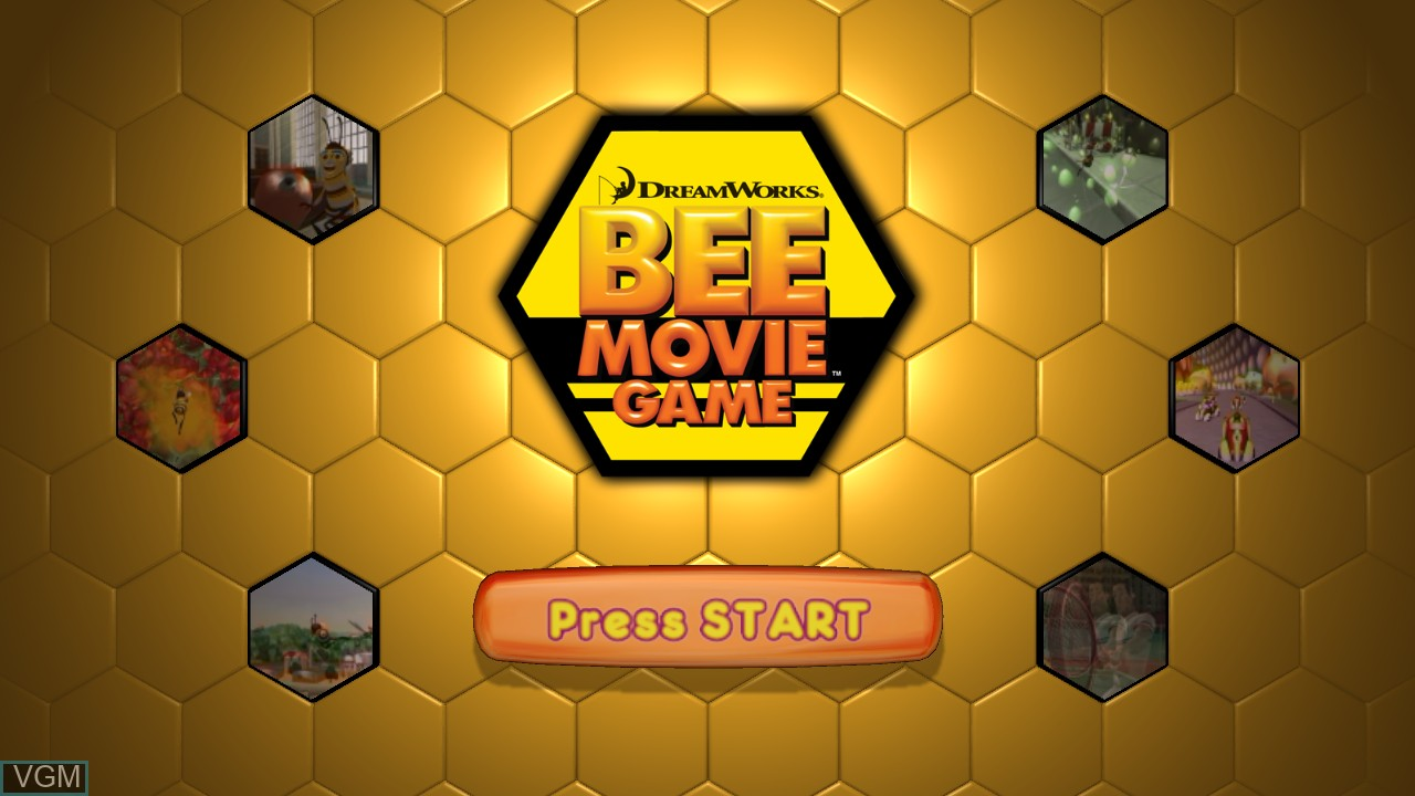 Title screen of the game Bee Movie Game on Microsoft Xbox 360