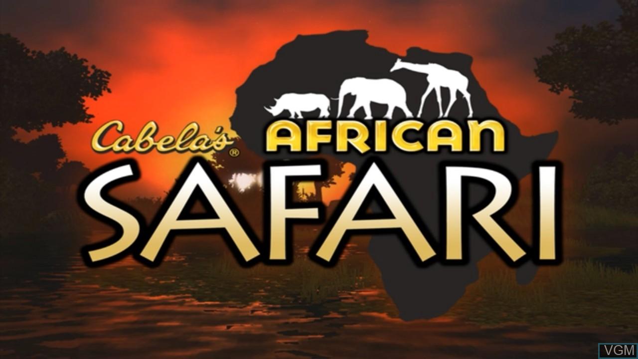 Title screen of the game Cabela's African Safari on Microsoft Xbox 360