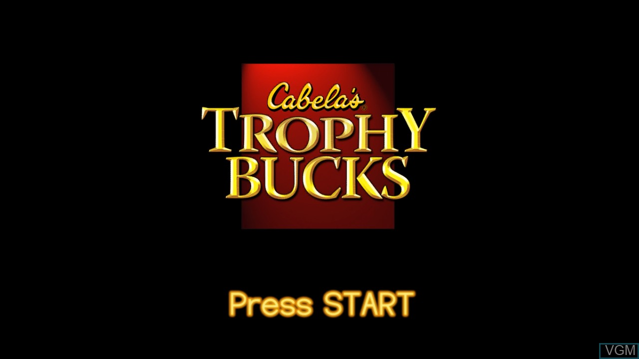Title screen of the game Cabela's Trophy Bucks on Microsoft Xbox 360