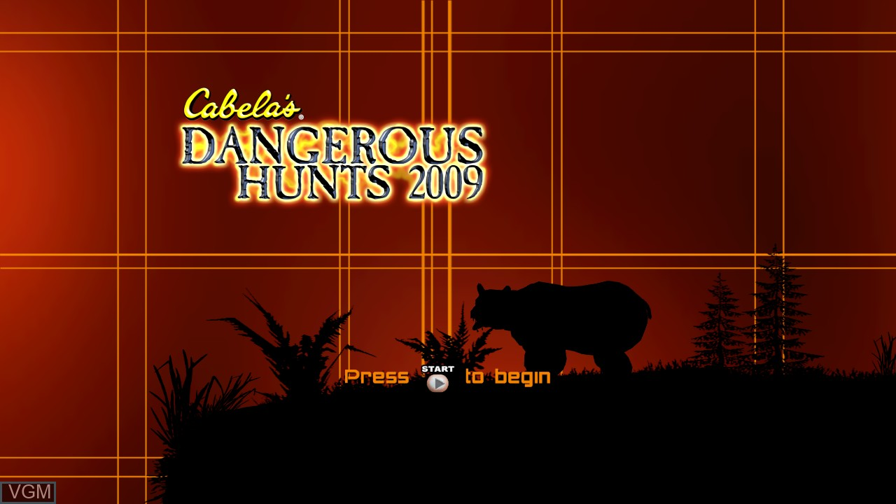 Title screen of the game Cabela's Dangerous Hunts 2009 on Microsoft Xbox 360