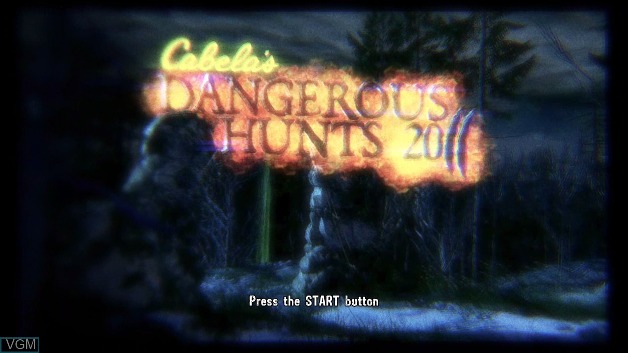 Title screen of the game Cabela's Dangerous Hunts 2011 on Microsoft Xbox 360