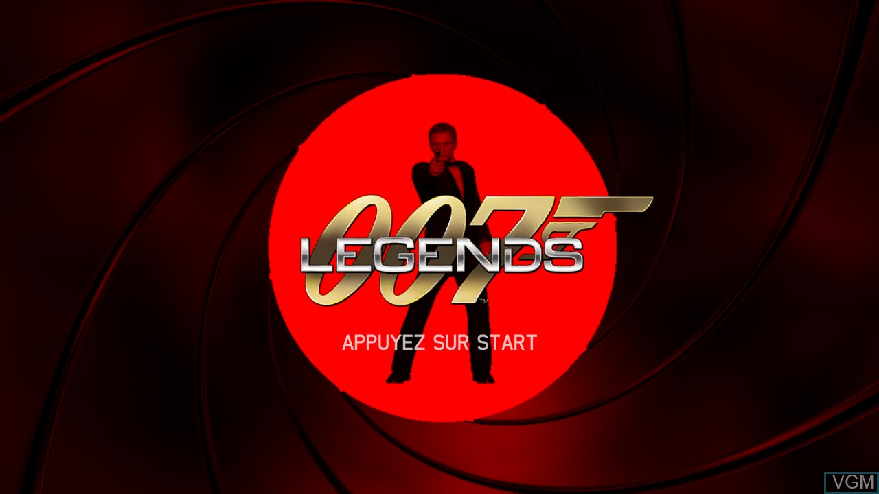 Title screen of the game 007 Legends on Microsoft Xbox 360