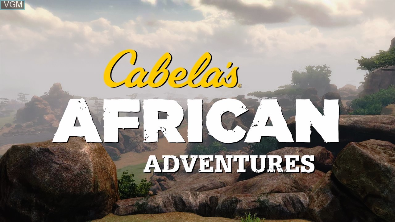 Title screen of the game Cabela's African Adventures on Microsoft Xbox 360