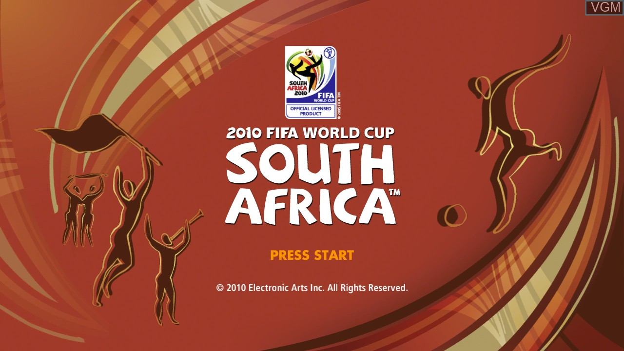 Title screen of the game 2010 FIFA World Cup South Africa on Microsoft Xbox 360