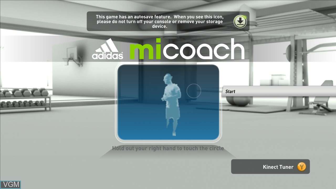 Title screen of the game Adidas miCoach on Microsoft Xbox 360