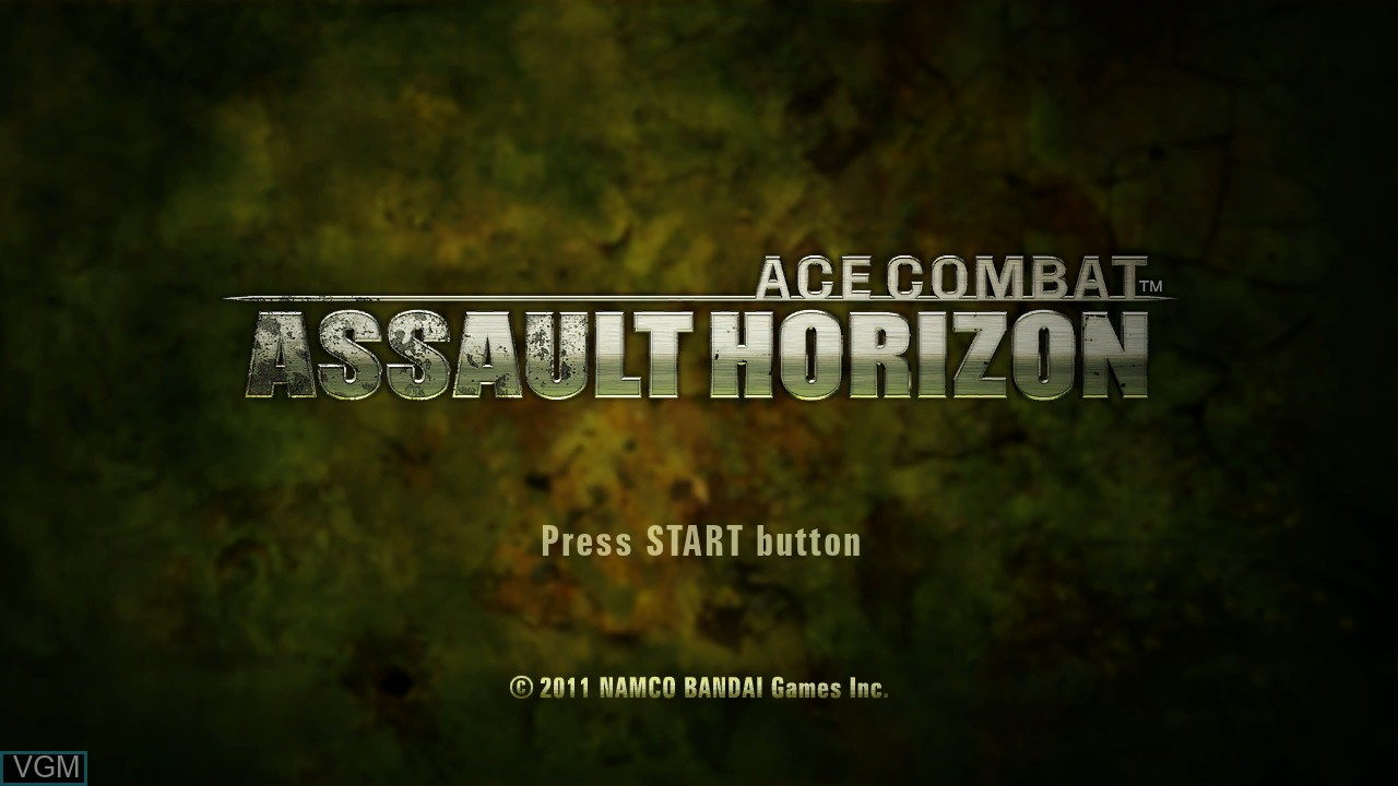Title screen of the game Ace Combat - Assault Horizon on Microsoft Xbox 360