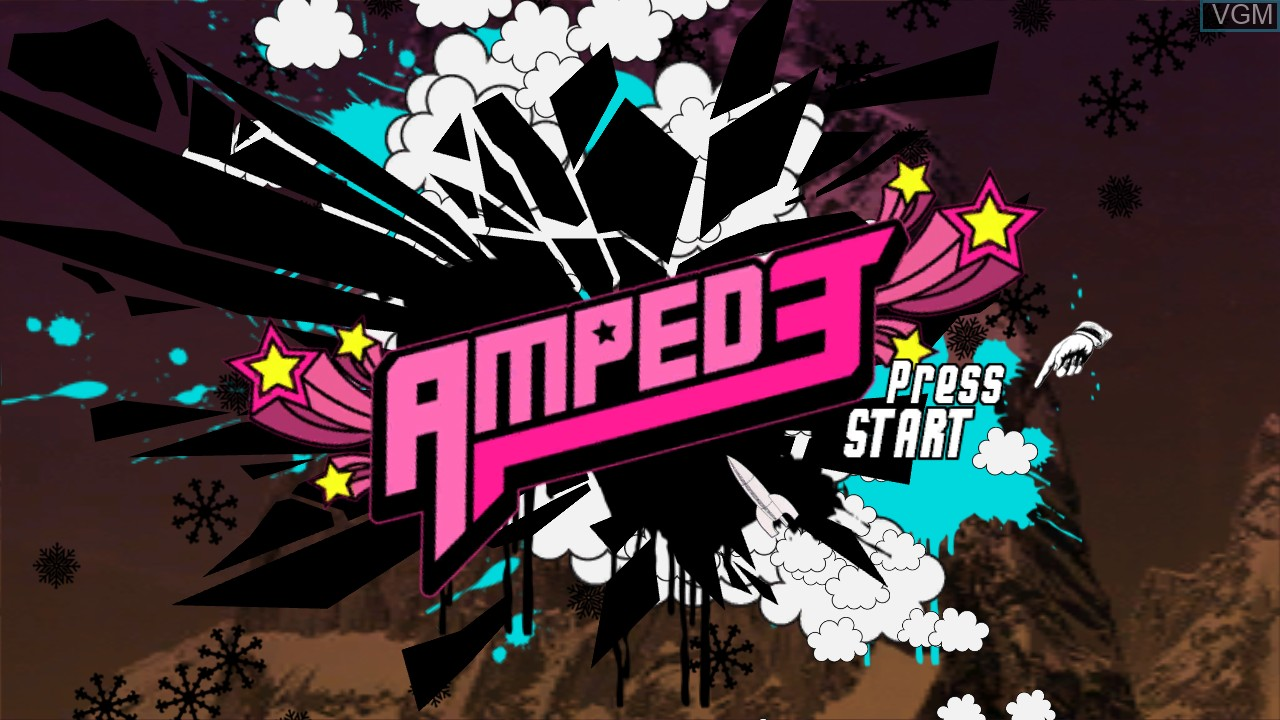 Title screen of the game Amped 3 on Microsoft Xbox 360